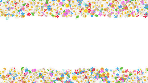 Floral border placeholder background, flower animation Animation