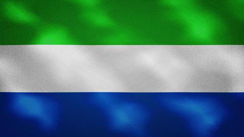 Sierra Leone dense flag fabric wavers, background loop Videos animados