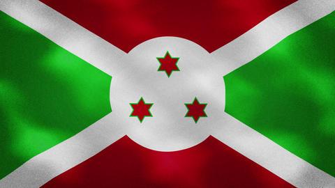 Burundi dense flag fabric wavers, background loop Videos animados