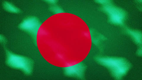 Bangladesh dense flag fabric wavers, background loop Videos animados