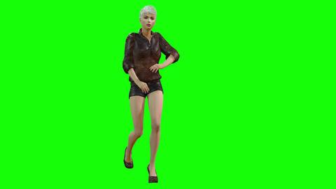 799 4K DANCE BEAUTY STAGE 3D computer generated girl dances SALSA CG動画