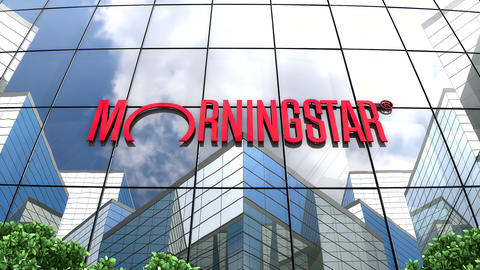 May 2019, Editorial use only, Morningstar Inc. logo on glass building Animation
