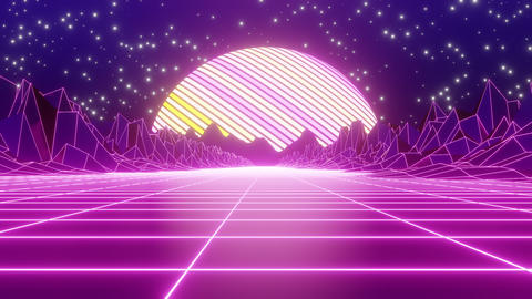 80's Retro Mountain 02 CG動画