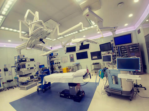Operating theater (room) in a modern hospital フォト