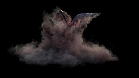 Smoke Dragon Loop Animation