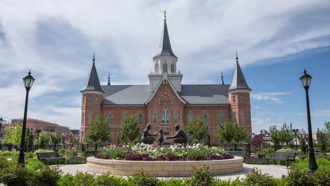 Time lapse of the Provo City Center Temple Live Action
