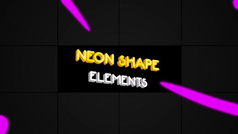 Neon Shape Elements Premiere Pro Template