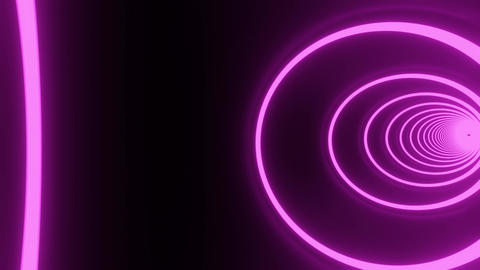 Pink circle neon tunnel CG動画