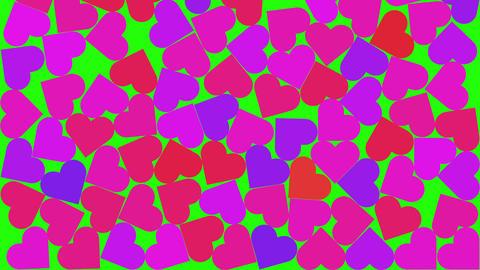 Social Media Heart Likes Filling Entire Screen on Green BG with Luma Matte Animation