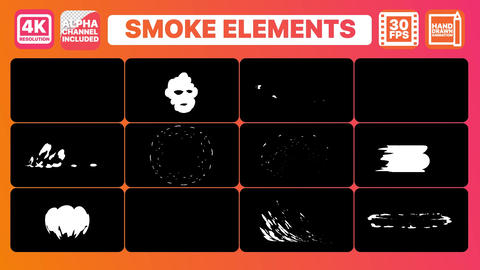 Smoke Elements Premiere Pro Template