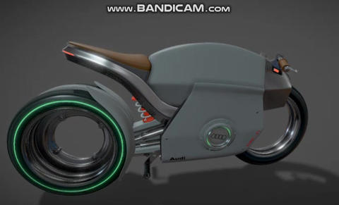 Racing motorcycle Audi rebel f1 high poly 3D Model