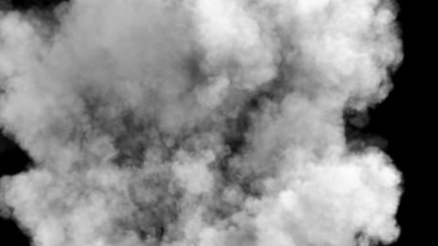 Smoke after a strong explosion and Shockwave. Contains the alpha channel Animation
