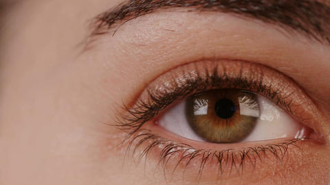 Macro shot of a woman's eyes Footage