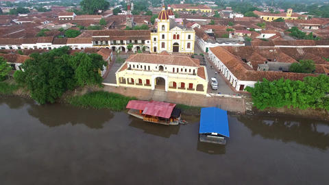 Mompox, Colombia Aerial View Live Action