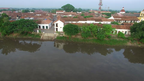 Mompox Waterfront River Footage