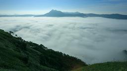 Fog at Lake Mashu Caldera, Hokkaido, Japan Footage