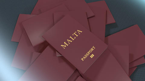 Artist rendering Malta travel passport Animation