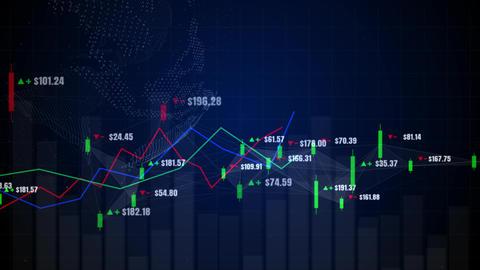 Candlestick graph chart 00517 Animation