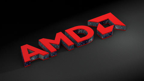 Editorial use only, AMD Inc. company logo Animation