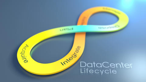 Data Center Lifecycle concept animation background Animation
