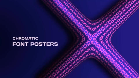 3D Kinetic Typo Poster After Effects Template