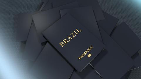 Artist rendering Brazil travel passport Animation