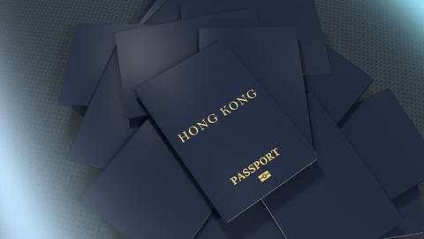 Artist rendering Hong Kong travel passport Animation