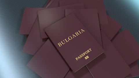 Artist rendering Bulgaria travel passport Animation