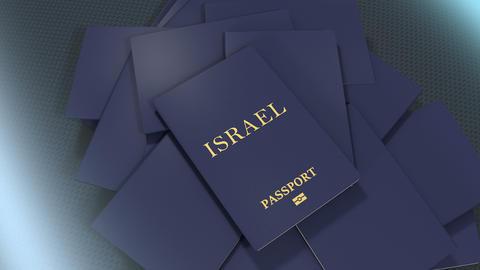 Artist rendering Israel travel passport Animation