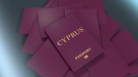 Artist rendering Cyprus travel passport Animation