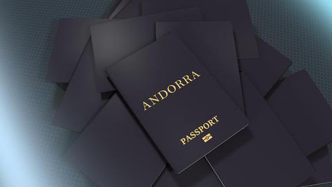 Artist rendering Andorra travel passport Animation