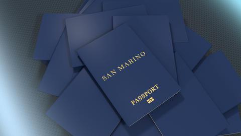 Artist rendering San Marino travel passport Animation