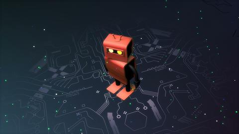 Robot and machine learning animation background Animation