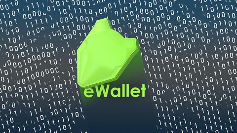 Concept animation, eWallet digital data protection shield Animation