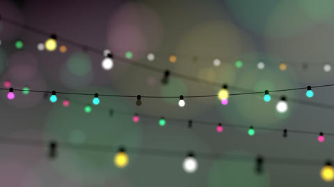 Twinkle decoration lights, celebration animation Animation