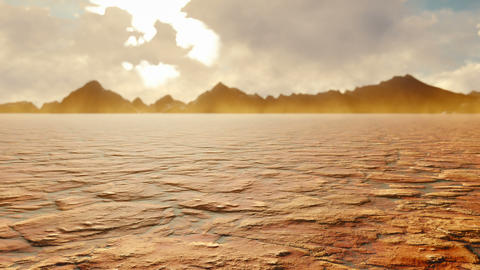 Apocalyptic hot desert. Post-Apocalypse, global warming, climate change, dusty desert Animation