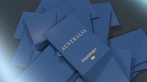 Artist rendering Australia travel passport Animation