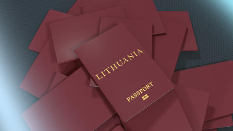 Artist rendering Lithuania travel passport Animation