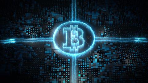 Bitcoin blockchain crypto currency 00545 Animation