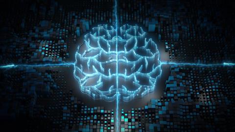 Artificial intelligence big data flow analysis 00548 Videos animados
