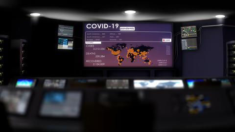 Pandemic outbreak operation command center Animation