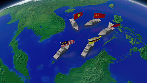 South China Sea territorial disputes Animation