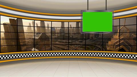 News TV Studio Set 318- Virtual Green Screen Background Loop ライブ動画