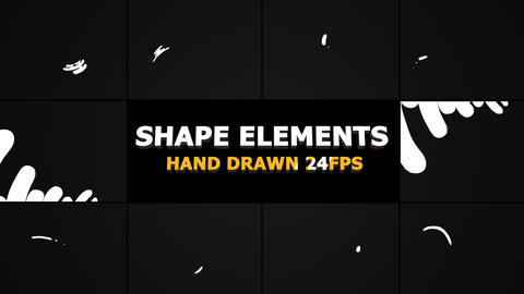 Hand Drawn Shape Elements And Transitions Plantillas de Premiere Pro