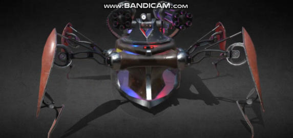 Cyber spider police robot 3D Model