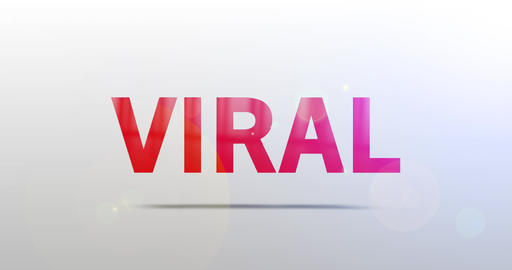 Viral. Particle Logo. Text Animation Animation