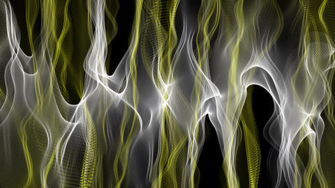 Fantastic video animation with color changing wave object in motion, loop HD Animation