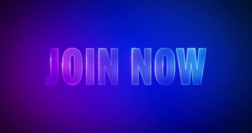 Join now. Electric lightning words. Logotype Animation
