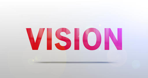 Vision. Particle Logo. Text Animation Animation