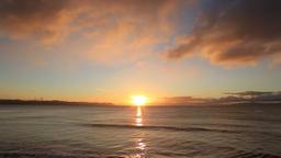 Sunrise at sea in Hokkaido, Japan Footage
